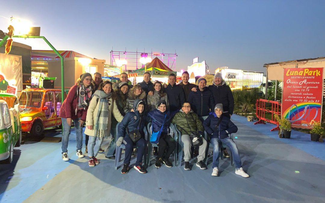 I ragazzi del Progetto SpA al Luna Park