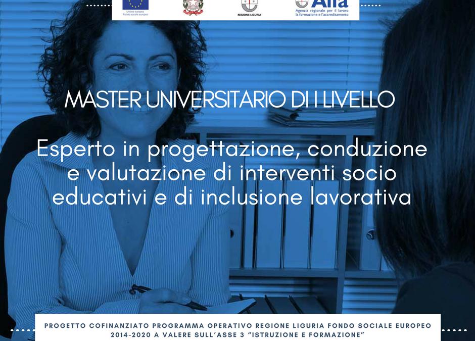 MASTER GRATUITO PRESSO l'UNIVERSITA' DI GENOVA