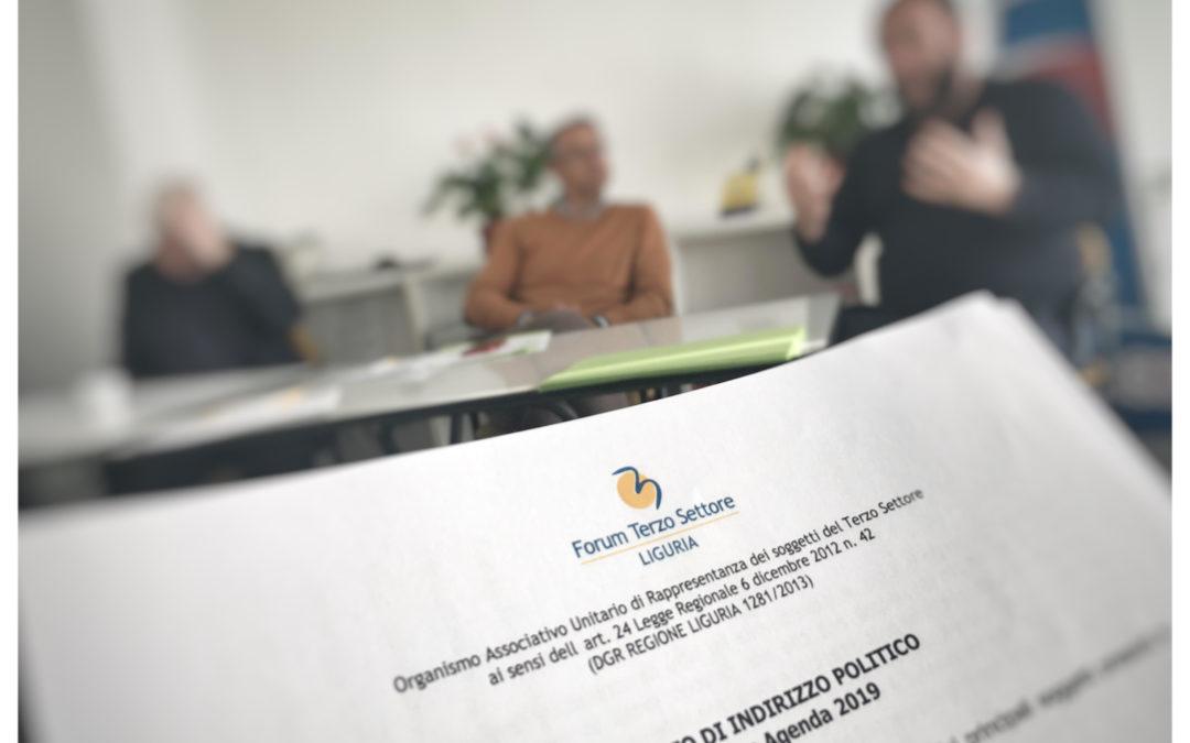Il Consorzio TST al Consiglio regionale del Forum del terzo settore ligure